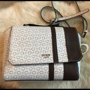 Guess brand purse - white and brown